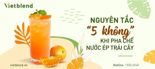 """Nguyên tắc """"5 không"""" khi pha chế nước ép trái cây"""